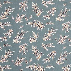 Tissu coton enduit Wisteria - Eucalyptus x 10cm