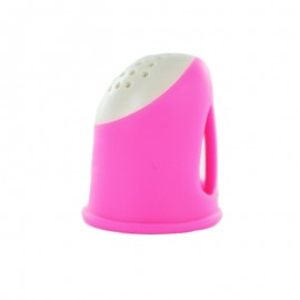 Ergonomic Sewing Thimble - Pink Soft Grip