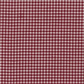 Oilcloth fabric - Red/white Pepita x 10cm