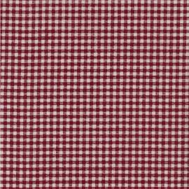 Tissu coton enduit Pepita - Rouge/blanc x 10cm