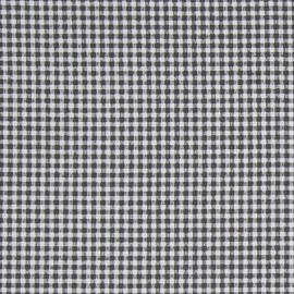 Tissu coton enduit Pepita - noir/blanc x 10cm