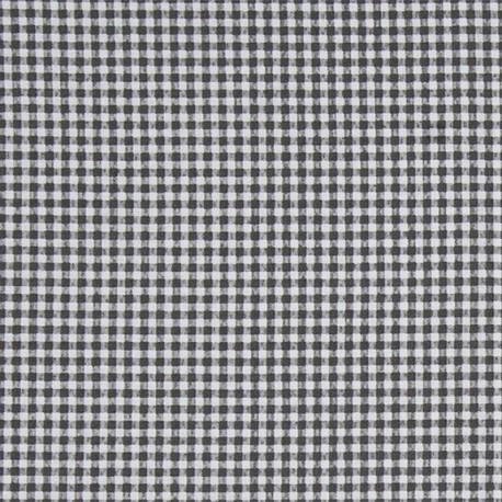 Oilcloth fabric - Black/white Pepita x 10cm