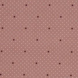 Oilcloth fabric - Pink Dottie Dot x 10cm