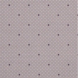 Oilcloth fabric - Misty Rose Dottie Dot x 10cm