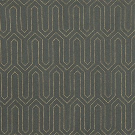 Oilcloth fabric - Green Broadway x 10cm