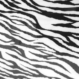 Tissu thermocollant velours - Zèbre x10 cm