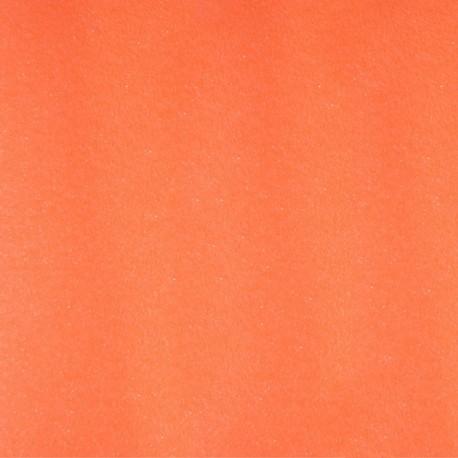 Tissu thermocollant Paillettes - Orange fluo x 10 cm