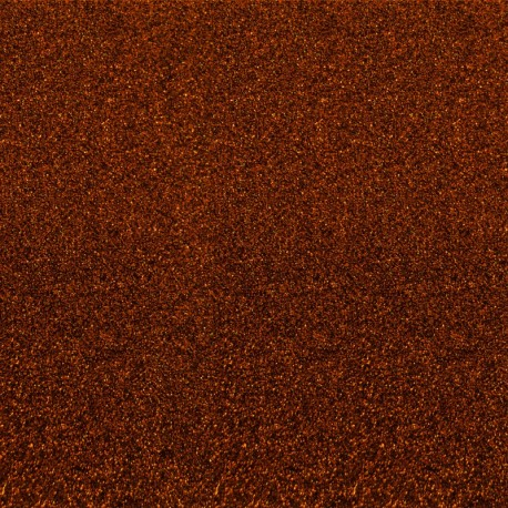 Tissu thermocollant Paillettes - Marron x 10 cm