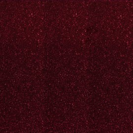 Glitter Fusible fabric - Burgundy  x 10 cm