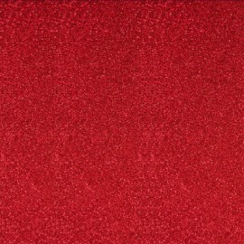 Glitter Fusible fabric - Red x 10 cm