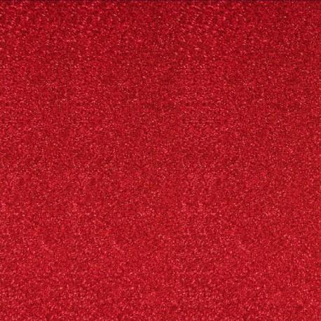 Tissu thermocollant Paillettes - Rouge x 10 cm