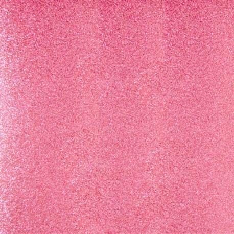 Tissu thermocollant Paillettes - Rose clair x 10 cm