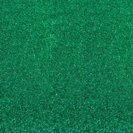 Tissu thermocollant Paillettes - Vert émeraude x 10 cm