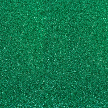 Glitter Fusible fabric - Emerald Green x 10 cm