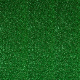 Glitter Fusible fabric - Green x 10 cm