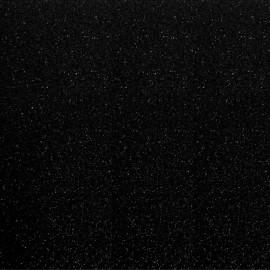 Tissu thermocollant Paillettes - Noir x 10 cm