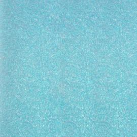 Tissu thermocollant Paillettes - Bleu Iceberg x 10 cm