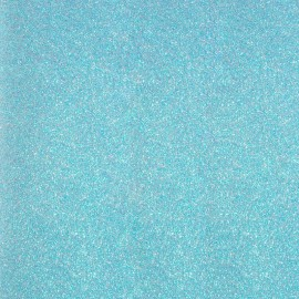 Glitter Fusible fabric - Iceberg Blue x 10 cm