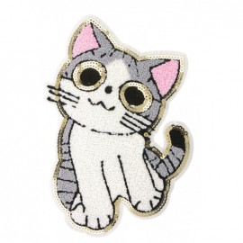 Terry Cat Sewing Patch - Grey