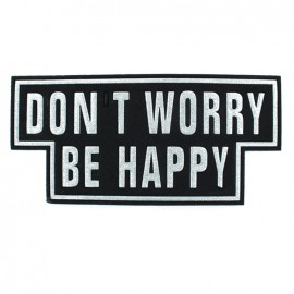 Thermocollant Don't Worry Be Happy - Noir