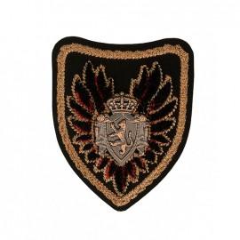 Blason Royal Crest Iron-On Patch - Black