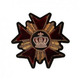 Blason Royal Medal Iron-On Patch - Garnet
