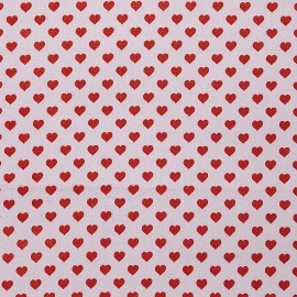 Rico Design cotton fabric  - Lilac Hearts x 10cm