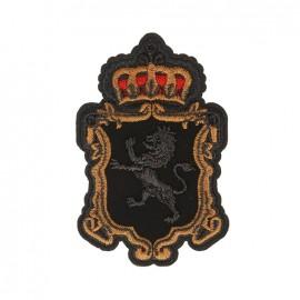 Blason Royal Lion Iron-On Patch - Black