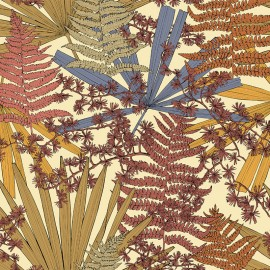 Tissu toile lin Cèdre - naturel x 45cm