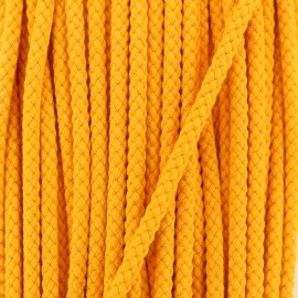 7 mm Braided cord - Pumpkin x 1m