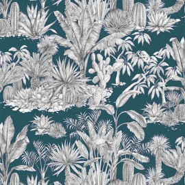 Cotton fabric - Lagoon Blue Heaven x 63cm