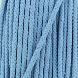 7 mm Braided cord - Sky Blue x 1m