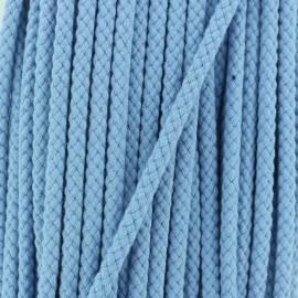 Cordon Tressé 7 mm - Bleu Ciel x 1m