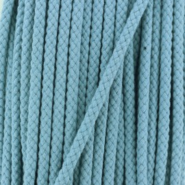 7 mm Braided Cord - Smoky Blue x 1m