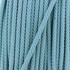 Cordon Tressé 7 mm - Bleu Fumé x 1m