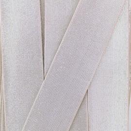 Elastique Plat Lurex 40mm - Argile x 1m