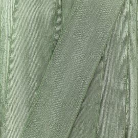 Elastique Plat Lurex 40mm - Vert de Gris x 1m