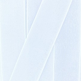 40 mm Flat Lurex Elastic - White Brillance x 1m