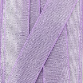 40 mm Flat Lurex Elastic - Purple Brillance x 1m