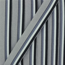 20 mm Elastic Strap - Grey Le Baigneur x 50cm