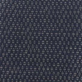 Lurex Jacquard fabric - Blue Octavia x 10cm