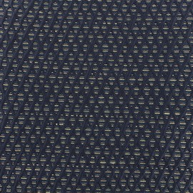 Tissu Jacquard lurex Octavia - bleu x 10cm