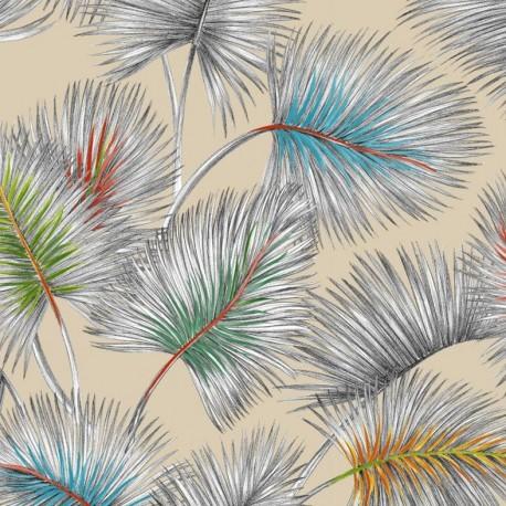 Tissu toile lin Palmy - naturel x 50cm