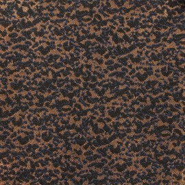 Lurex Jacquard fabric - Blue/black Tiana x 10cm