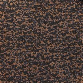 Tissu Jacquard lurex Tiana - bleu/noir x 10cm
