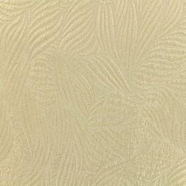 Tissu Jacquard lurex Marta - Crème/doré x 10cm