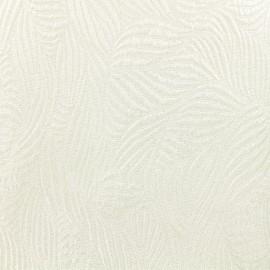 Lurex Jacquard fabric - white/silver Marta x 10cm