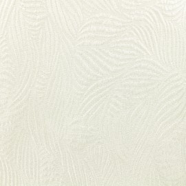 Tissu Jacquard lurex Marta - Blanc/Argent x 10cm