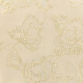 ♥ Coupon 160 cm X 140 cm ♥ Tissu Jacquard lurex Olympe - Rose poudré