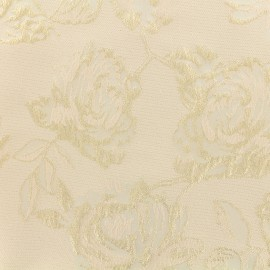 Lurex Jacquard fabric - Light pink Olympe x 10cm
